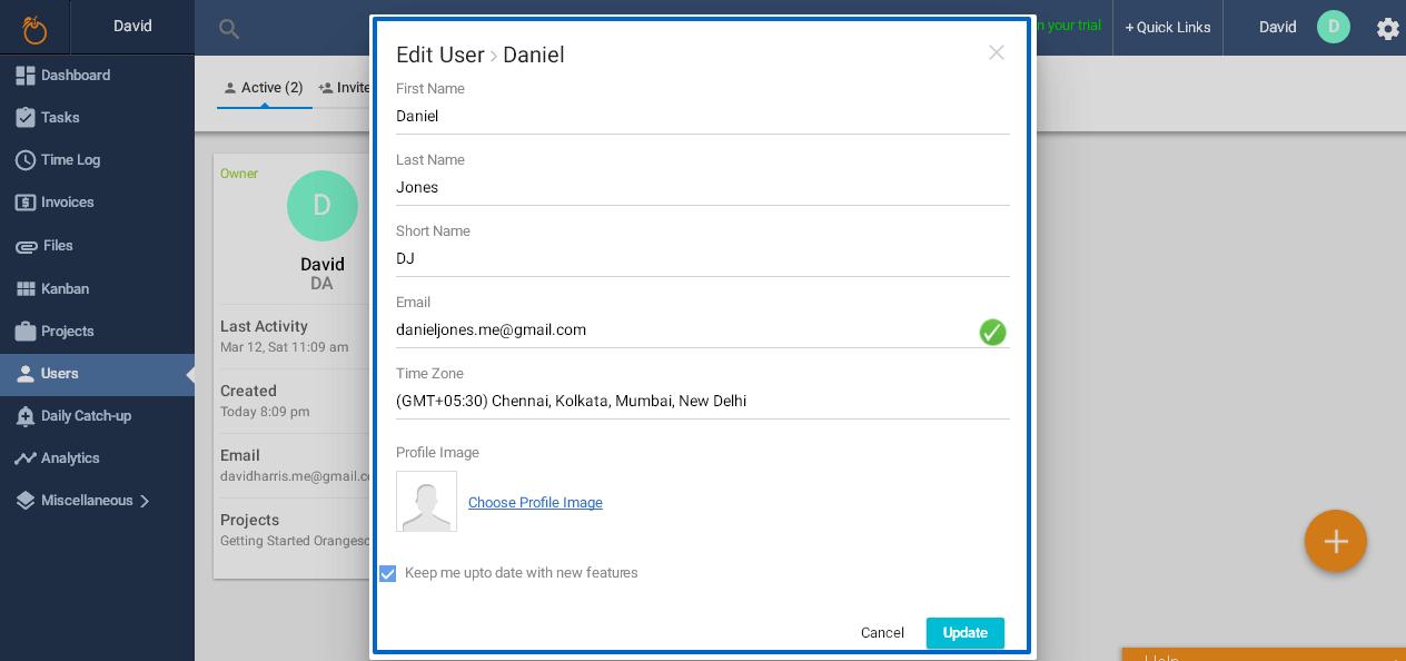 Edit user- 2