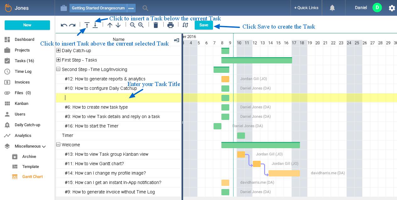 How to create a task in gantt chart orangescrum helpdesk create task in gc nvjuhfo Images