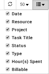 Add or remove column fields