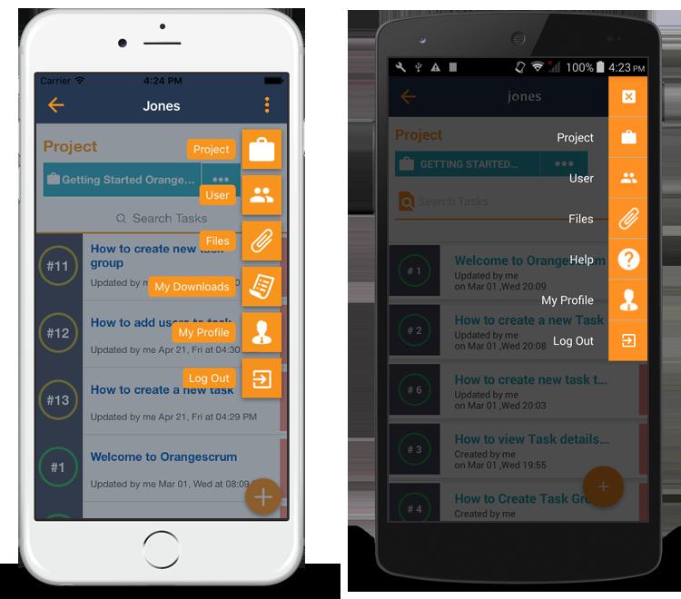 Orangescrum Mobile App features