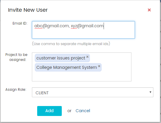 Add users to multiple projects