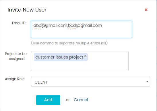 Invite multiple user