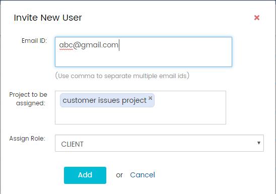 Invite new user