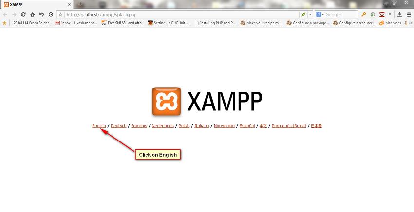 Language stepup for xampp