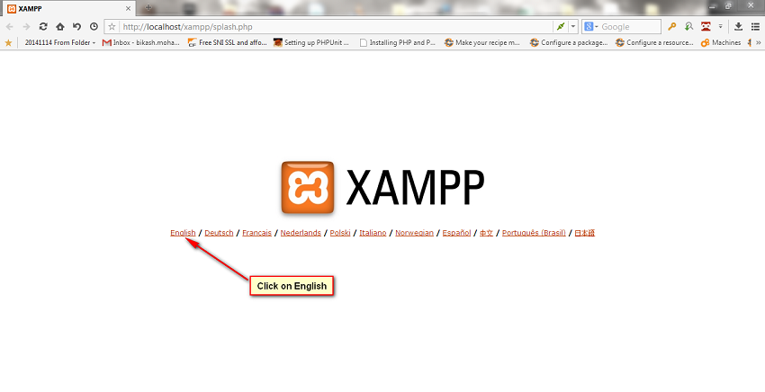Language stepup for xampp