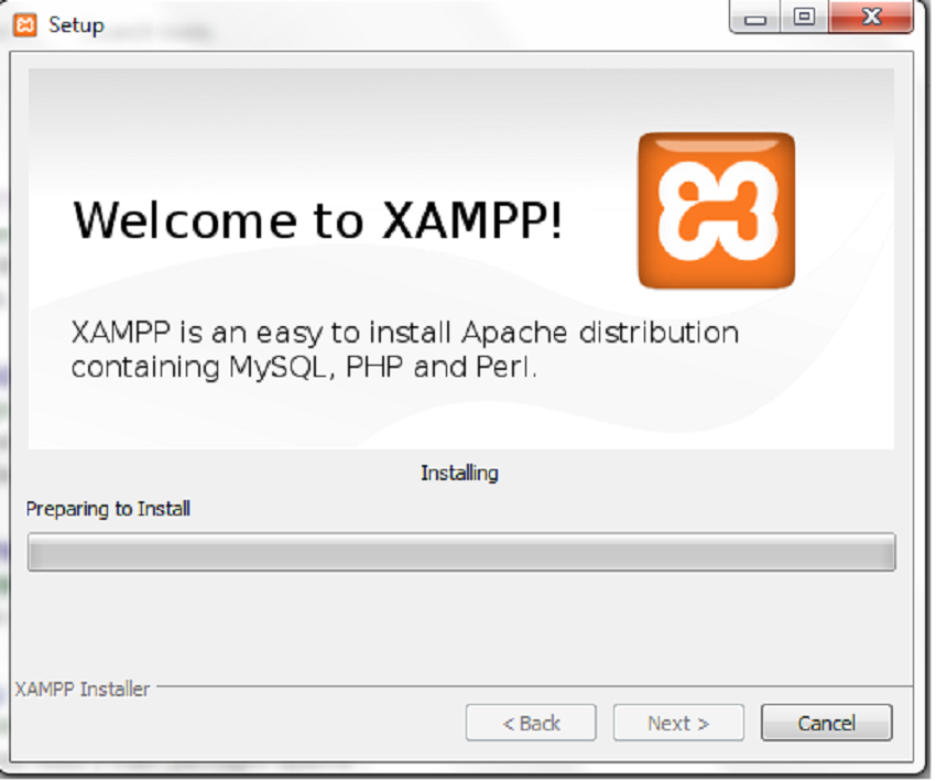 Xampp setup sucessfully