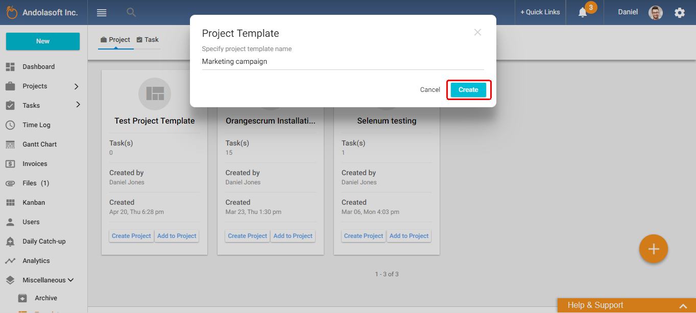 what is project template how it helps you orangescrum helpdesk