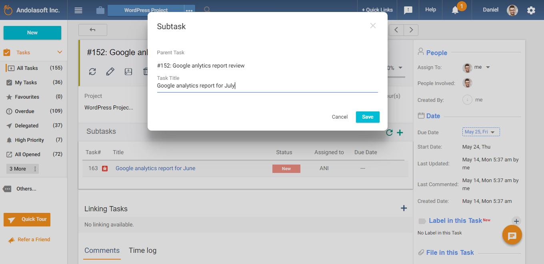 Create subtask