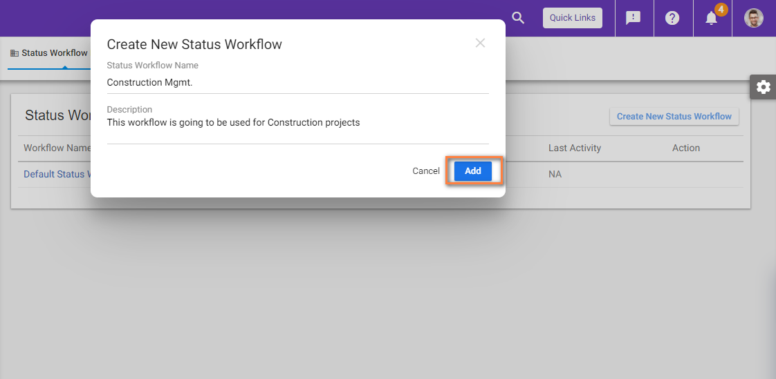 Create new workflow