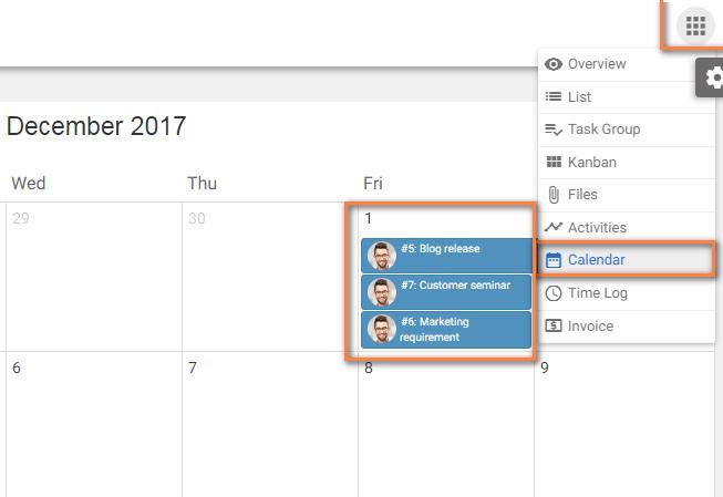 Calendar View My Task
