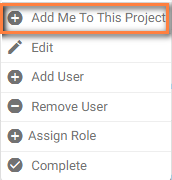 Project drop down