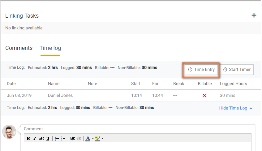 Task Detail Page